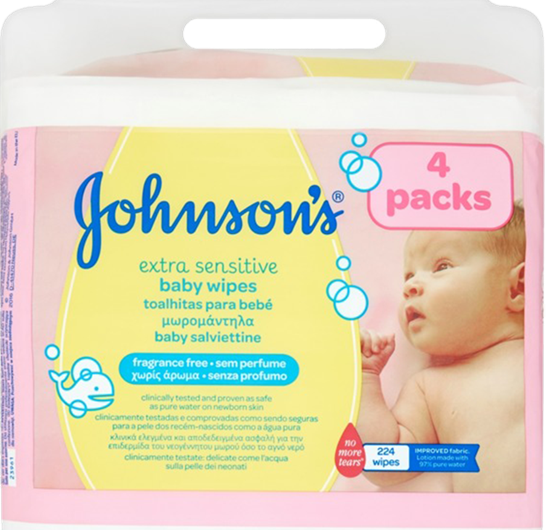 JOHNSON`S TOALLITAS SENSITIVE PACK 4UNS