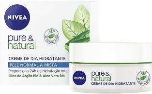NIVEA 50ML CREMA PURE & NATURAL NORMAL M