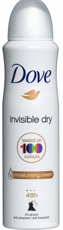 DOVE DEO 150ML INVISIBLE