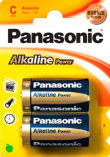PANASONIC ALKALINE PLUS R/14 BLIST. 2 UN