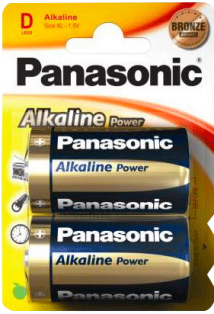 PANASONIC ALKALINE PLUS R/20 BLIST. 2 UN